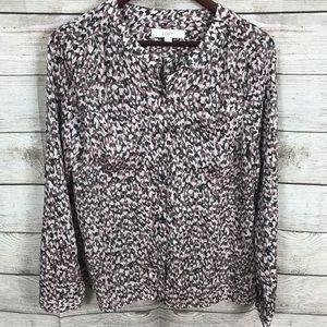 NWOT Loft button up blouse